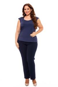 Stretch Hose blau für Damen