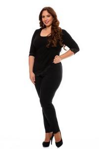 schwarze damenhose stretch plus size