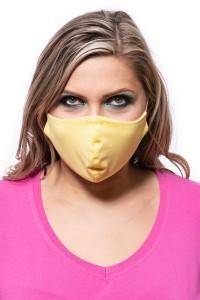 Gelbe maske waschbar baumwolle
